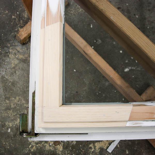 Fensterreparatur eines Fensters