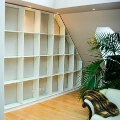 Regal in weiß für das Wohnzimmer