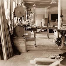 Maschinen und Bankraum der Tischlerei Grohs 1933
