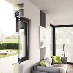 Einbaumöglichkeit von Fenster und Rolladen im Querschnitt